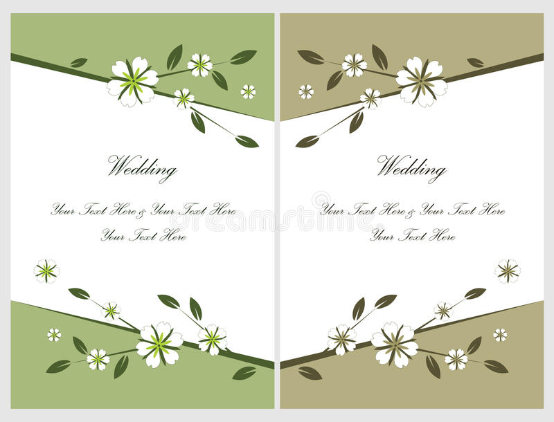 Download Set Wedding Invitation Cards 5 Stock Vector - Illustration of graphic, flowers: 13495000