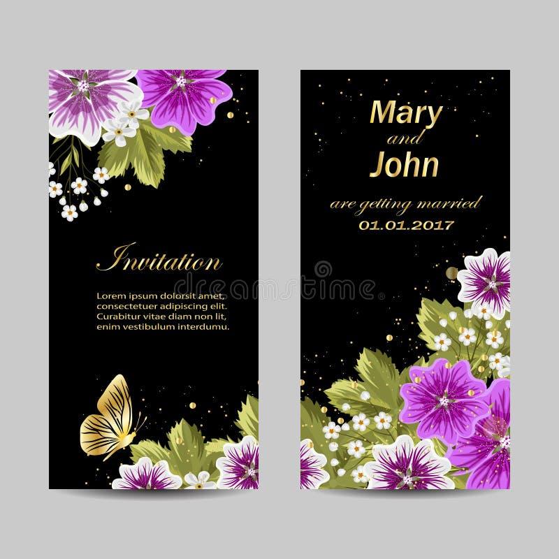 Set of wedding invitation cards design stock vector download set of wedding invitation cards design stock vector illustration of design holiday stopboris Images