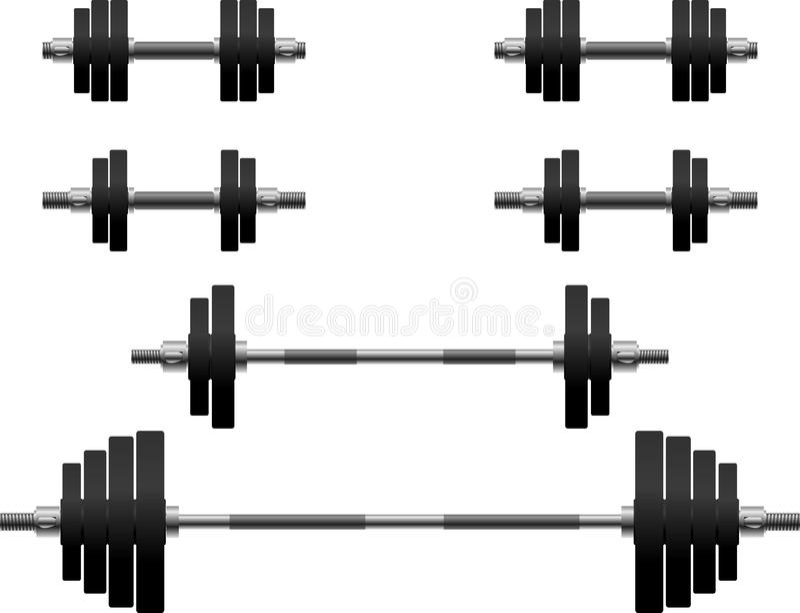 Download Set of weights stock vector. Image of weights, equipment - 16337507