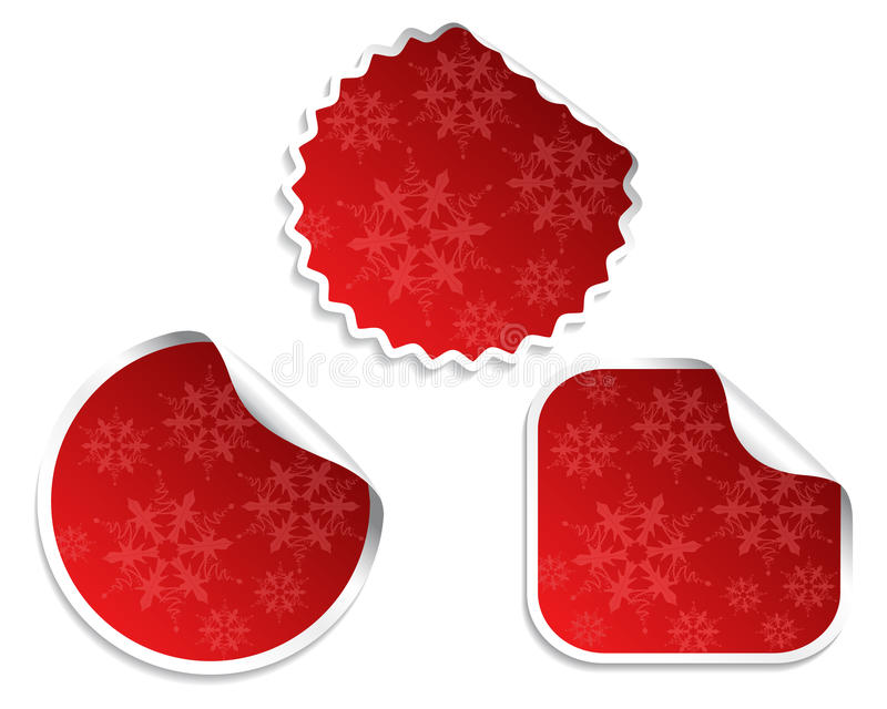 Set Weihnachtsaufkleber lizenzfreie abbildung