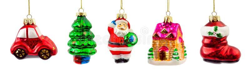 Set Weihnachtsdekorationen stockfotos