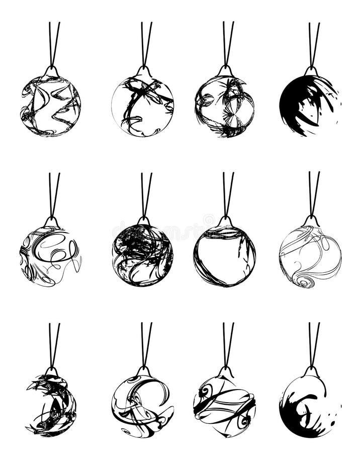 Download Set Weihnachtskugeln vektor abbildung. Illustration von niemand - 12203420