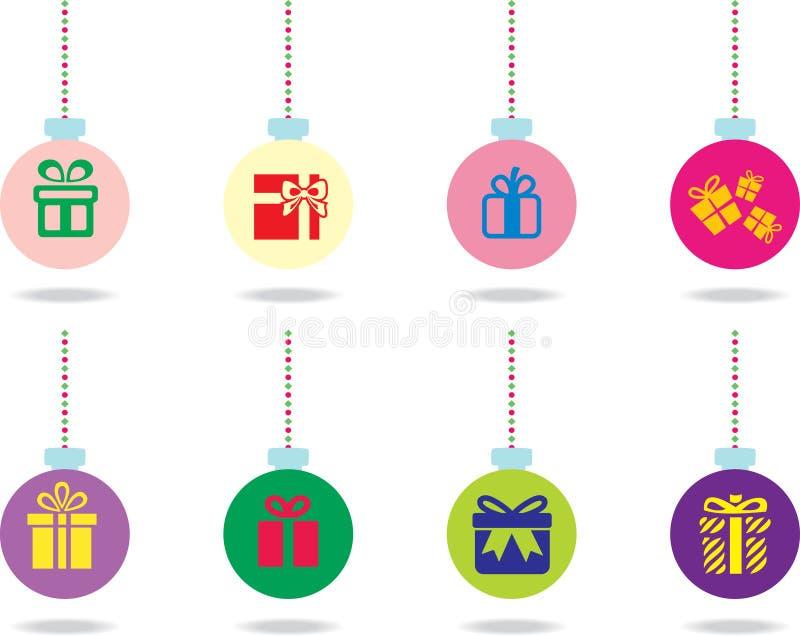 Set Weihnachtskugeln stockbilder