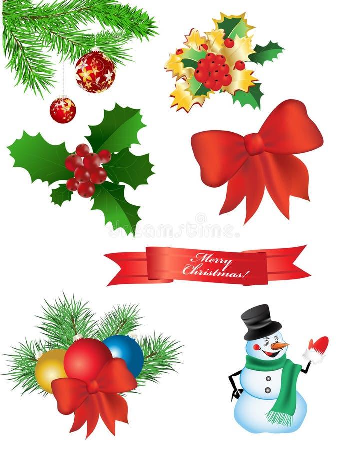 Set Weihnachtsnachricht stock abbildung
