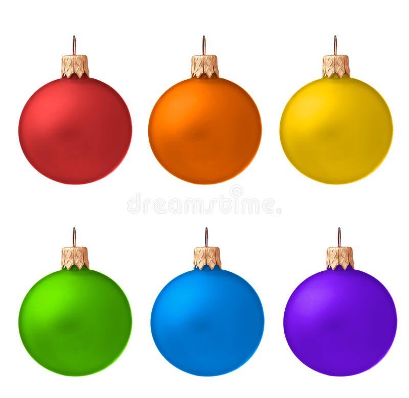 Set Weihnachtsverzierungen getrennt lizenzfreie stockfotografie
