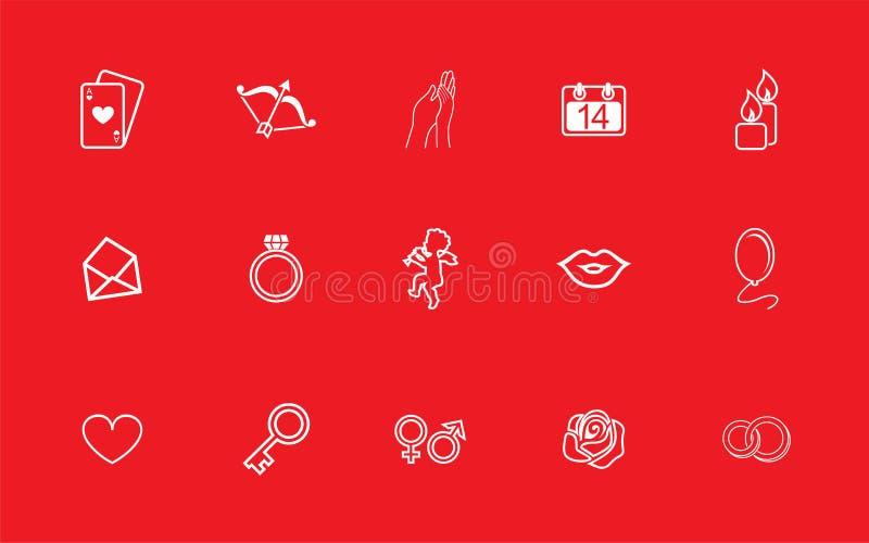 Set wektorów obrazki na miłości ilustracji
