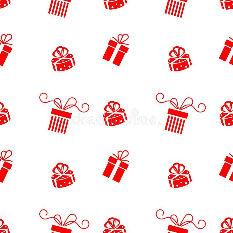 Set wektorowa Bożenarodzeniowa prezenta pudełka ikona odizolowywająca na białym tle ilustracja wektor
