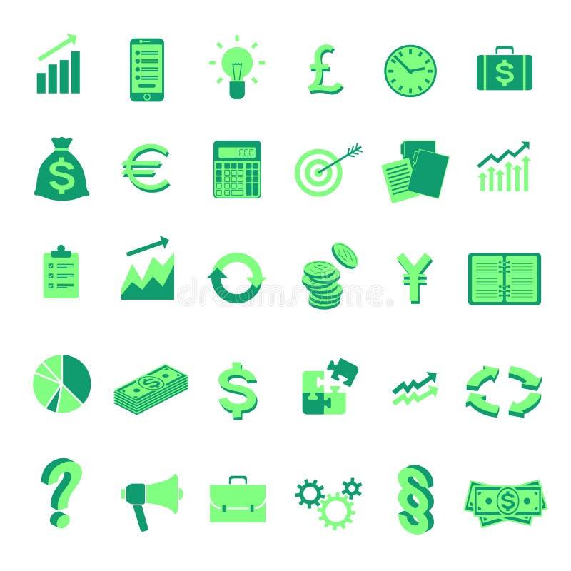 Set wektorowe biznesowe symbol ikony odosobniony zdjęcie royalty free