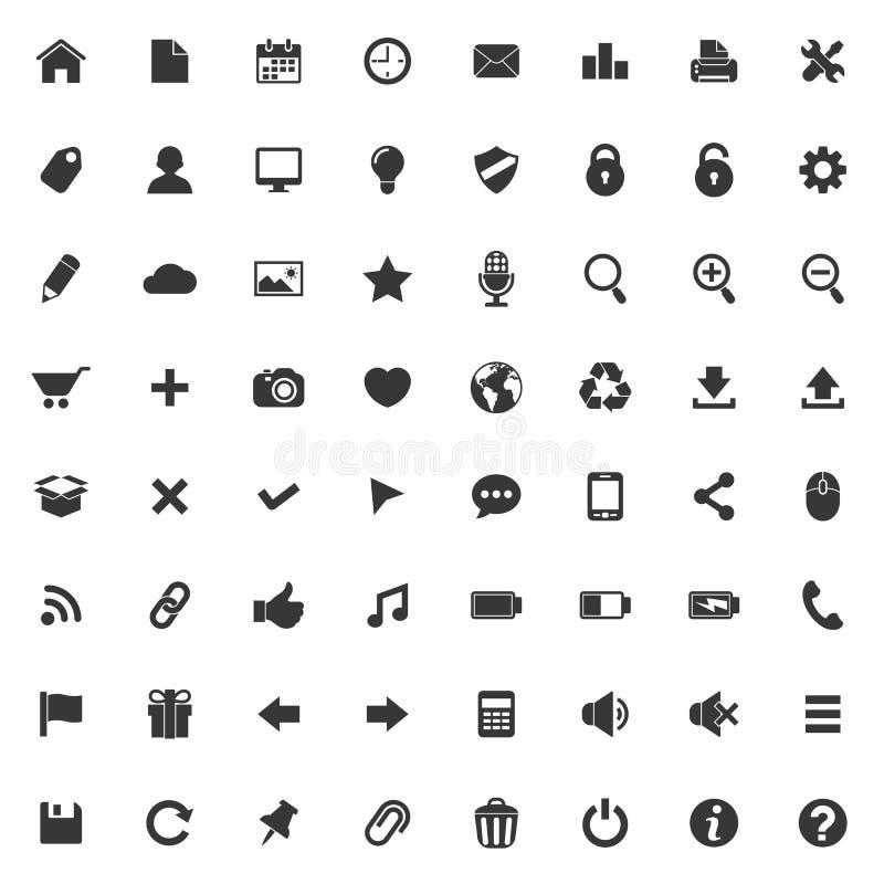 Set wektorowe ikony dla sieci i wiszącej ozdoby zastosowania royalty ilustracja
