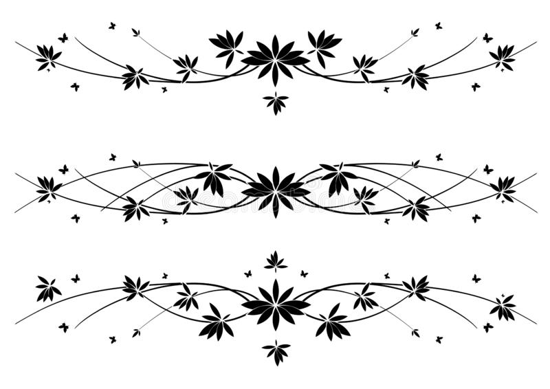 Set wektorowi dividers ilustracja wektor