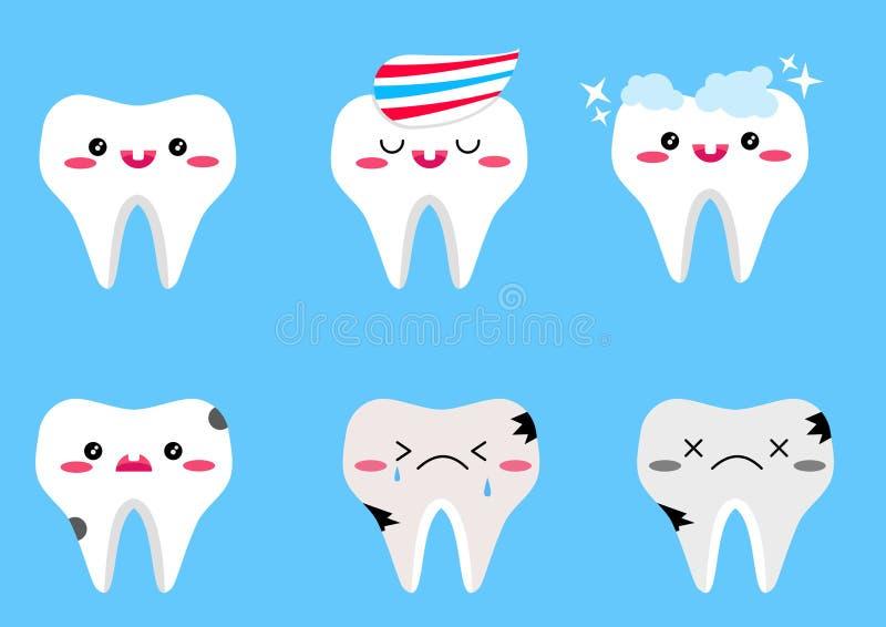 Set wektorowi zęby obrazy royalty free