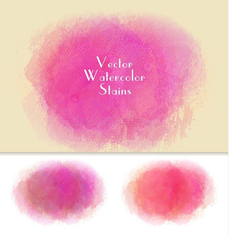 Set wektorowy akwarela punkt Menchia kolory ilustracja wektor
