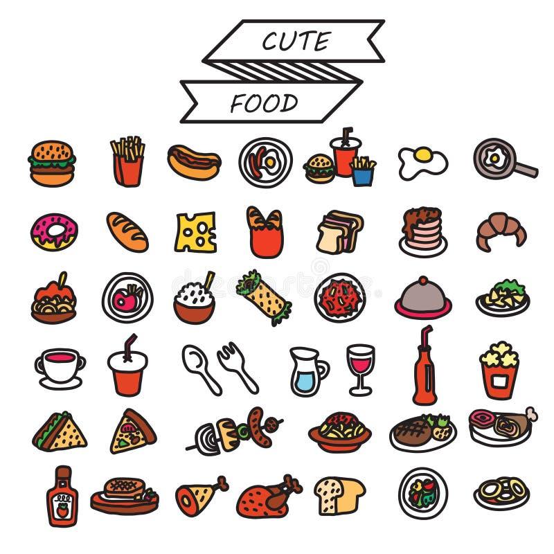 set wektorowy jedzenie ilustracji