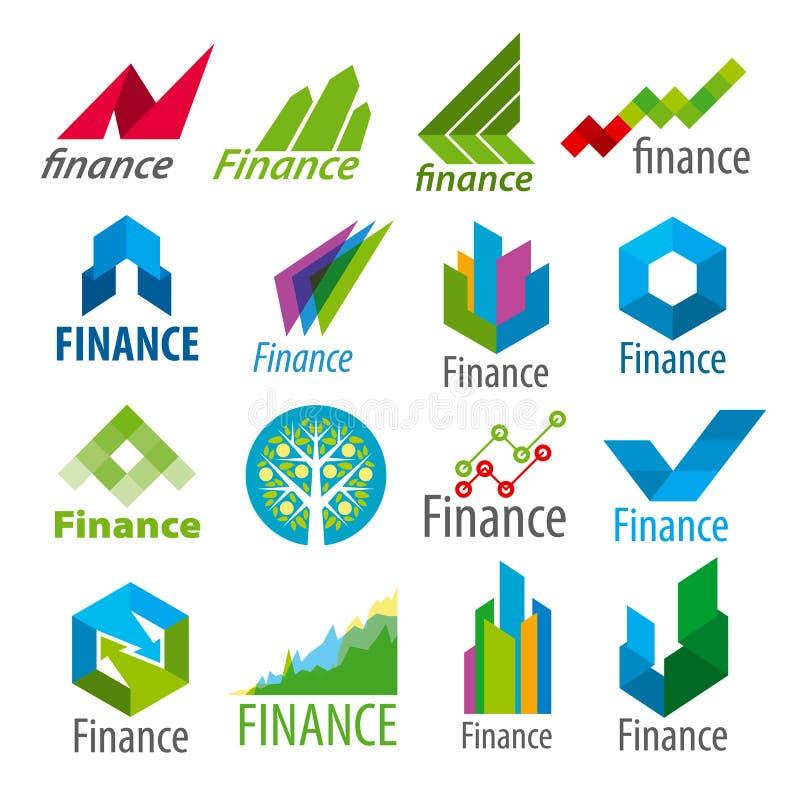 Set wektorowy loga finanse ilustracja wektor
