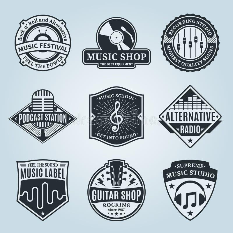 Set Wektorowy Muzyczny logo, ikony i projektów elementy,