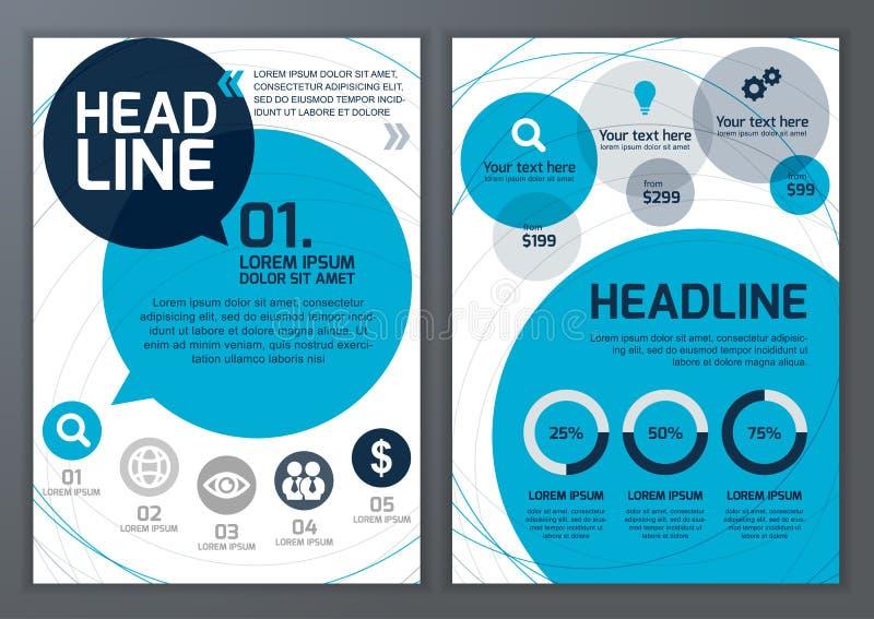 Set wektorowy szablon dla broszurki, ulotka, plakat, zastosowanie ilustracji