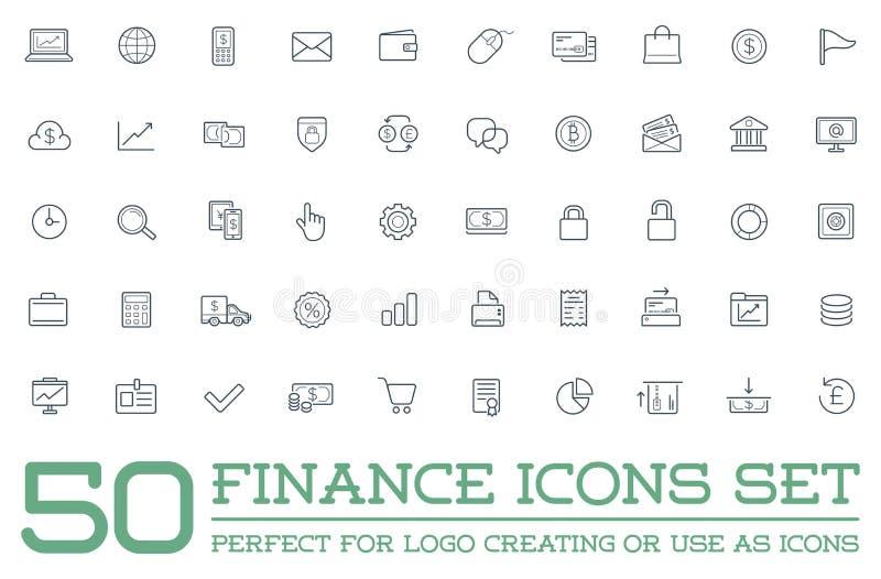Set wektoru finanse pieniądze ikony, zapłaty i dochodu bogactwo może używać jako logo ilustracja wektor