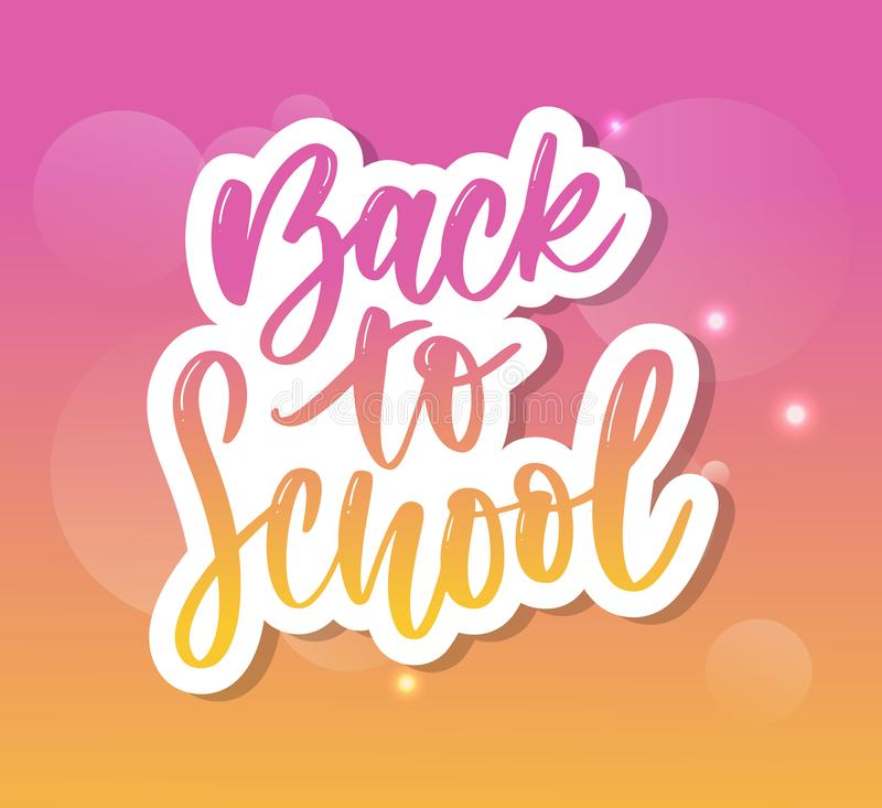 Set Of Welcome Back To School Labels . School Background