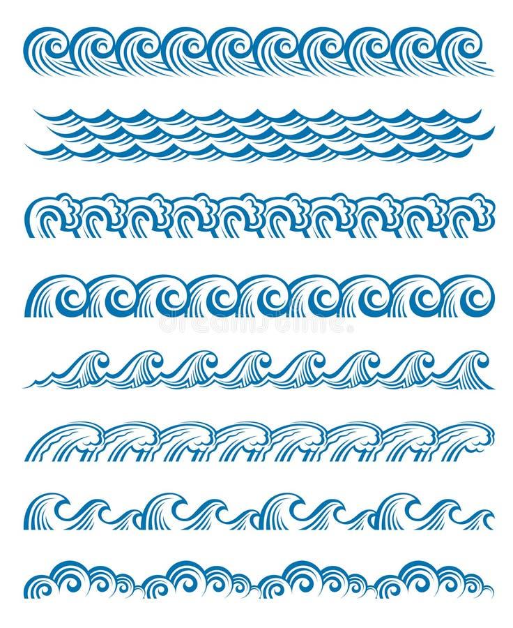 Set Wellen stock abbildung