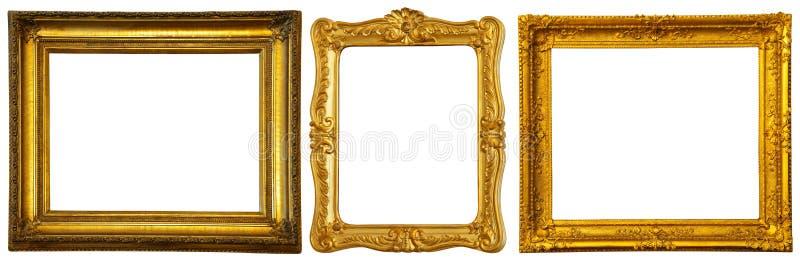 Set weniger Goldfelder lizenzfreie stockfotos