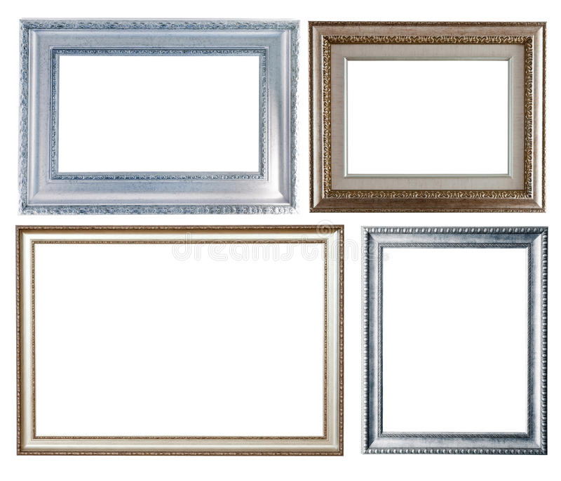 Set weniger silberner Felder lizenzfreie stockfotografie