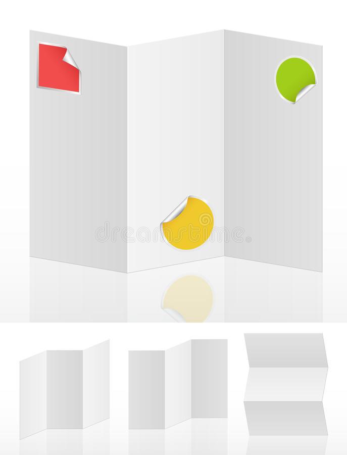 Download Set of white blank menus stock vector. Image of advertise - 19756423