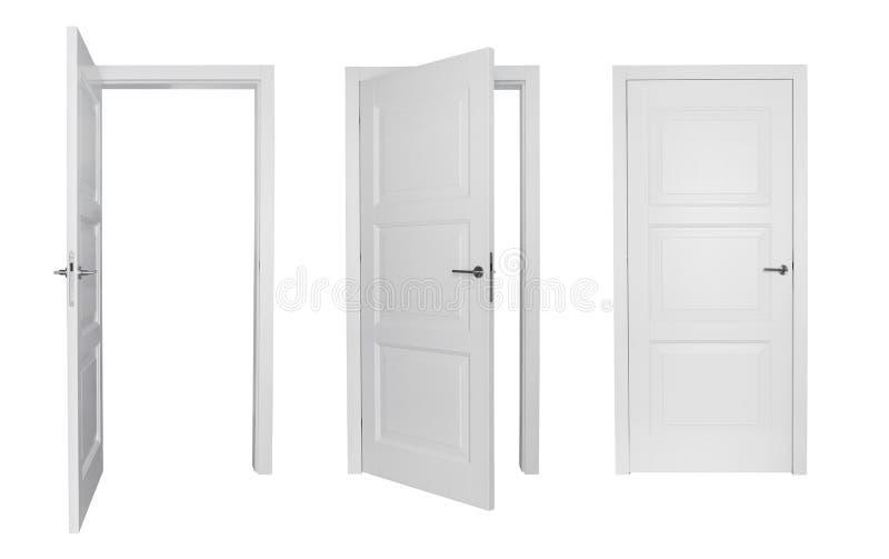 Set of white doors royalty free stock photos