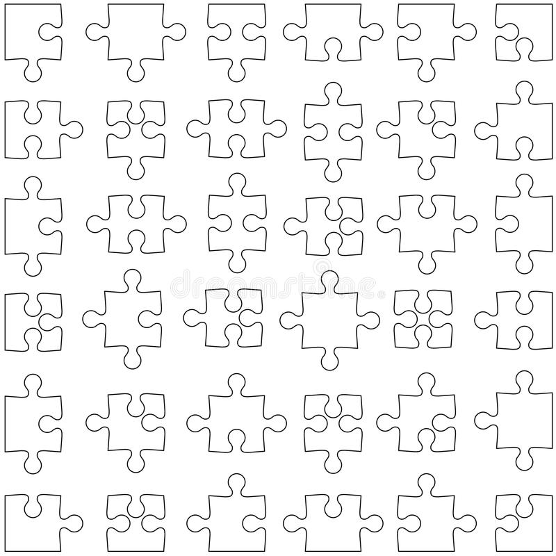 Download set of white jigsaw puzzles illustration stock vector illustration of hobbie leisure