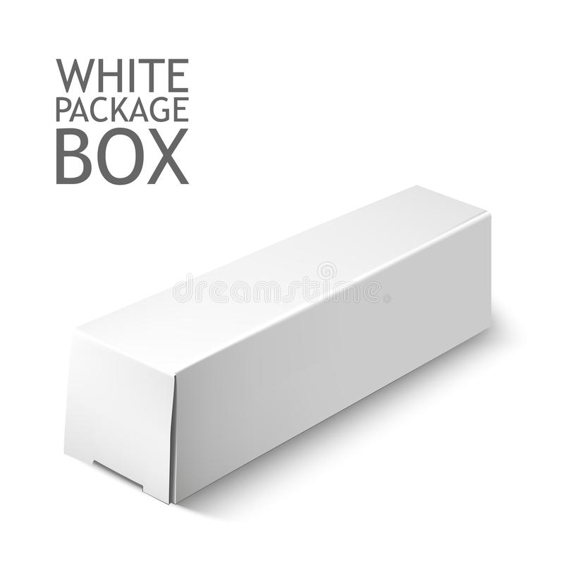 Set Of White Package Box. Mockup Template royalty free illustration