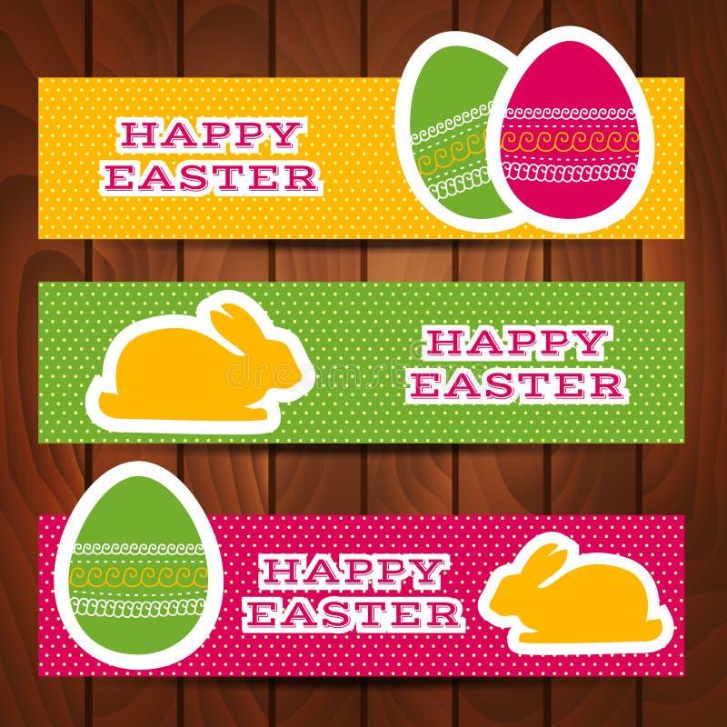 Set Wielkanocni chodnikowowie lub sztandary ilustracja wektor