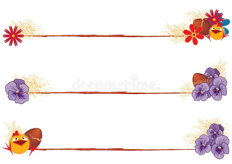 Set Wielkanocni dividers ilustracji