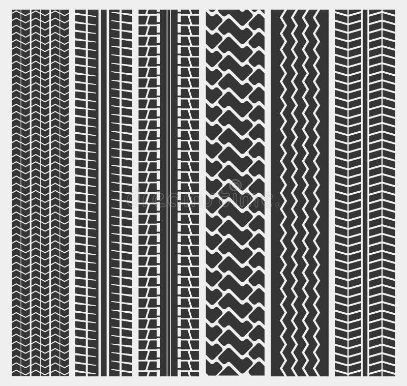 Set wieloskładnikowi samochodowej opony lub ciężarówki opony wzory ilustracji