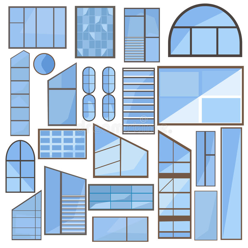 Transom Windows A Useful Design Element: Set Window, Glass, Frame Stock Vector. Illustration Of