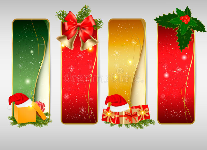 Set of winter christmas backgrounds. Vector