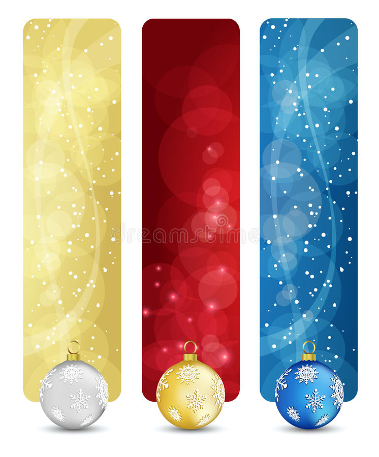 Set of winter christmas vertical banners vol. 02 vector illustration