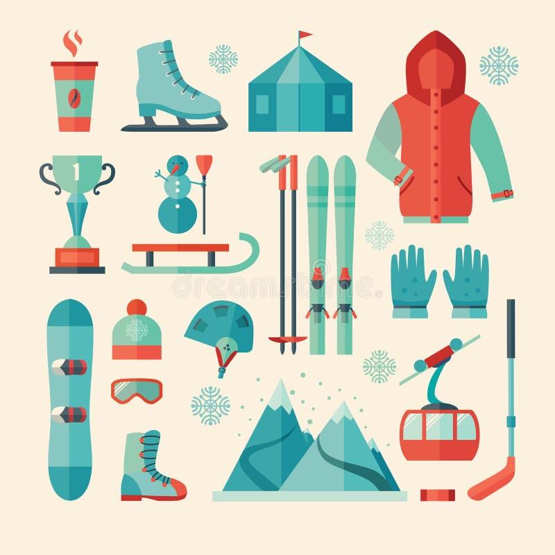 Set of winter sports icon vector illustration