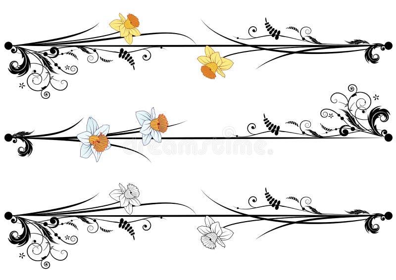 Set wiosny ćwiartowanie royalty ilustracja