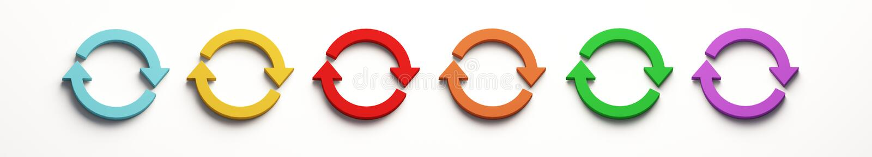Set Wiruje symbol ilustracja 3 d, ilustracji