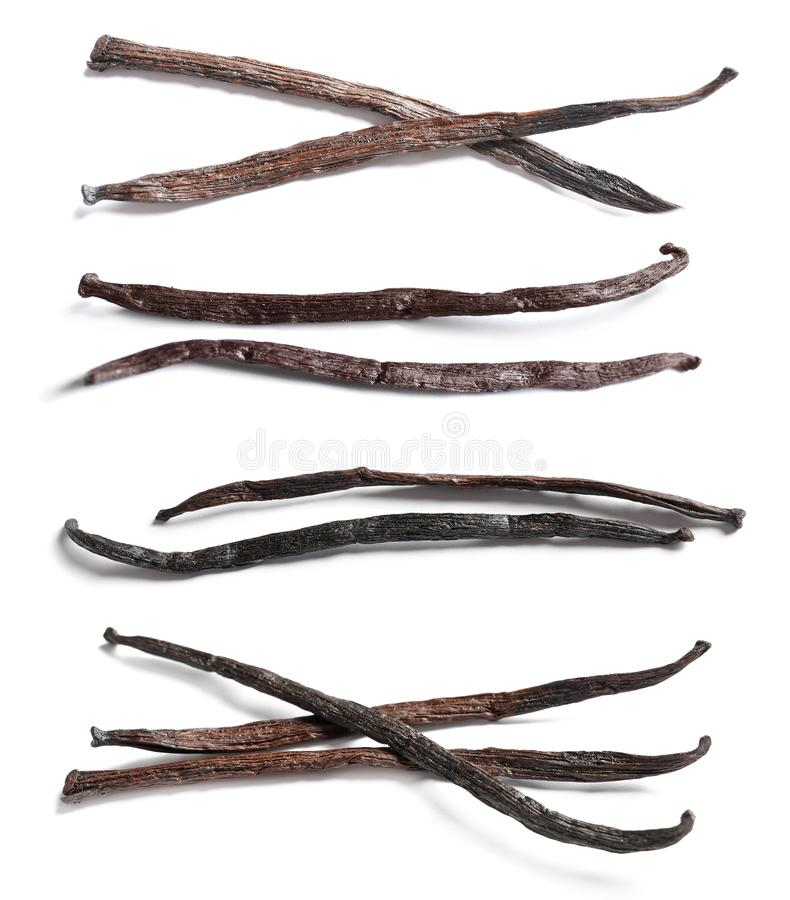 Free Set With Vanilla Pods Royalty Free Stock Photo - 124719705