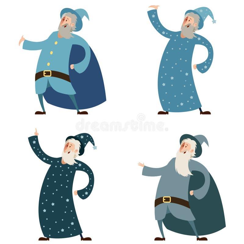 Set of wizards vector illustration