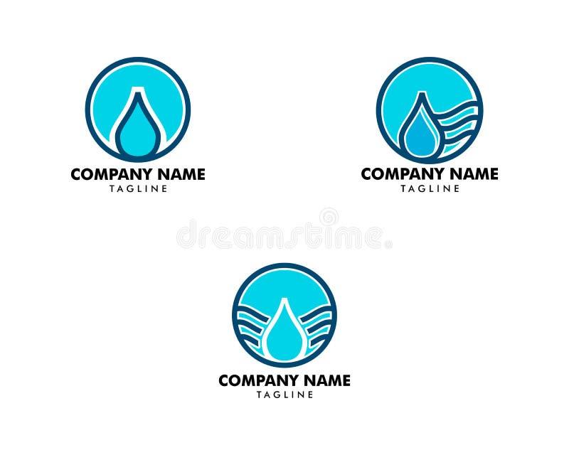 Set wody kropli logo projekta elementu wektorowej ilustracyjnej ikony kropelkowa energetyczna natura ilustracji