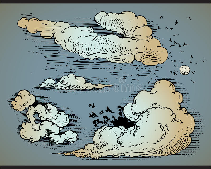 Set Wolken lizenzfreie abbildung