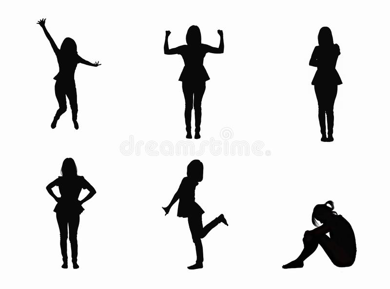Set of woman attractive body isolated on white background. Set of woman attractive body isolated on white background royalty free stock photos