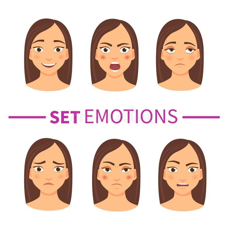 Set of emotions royalty free illustration