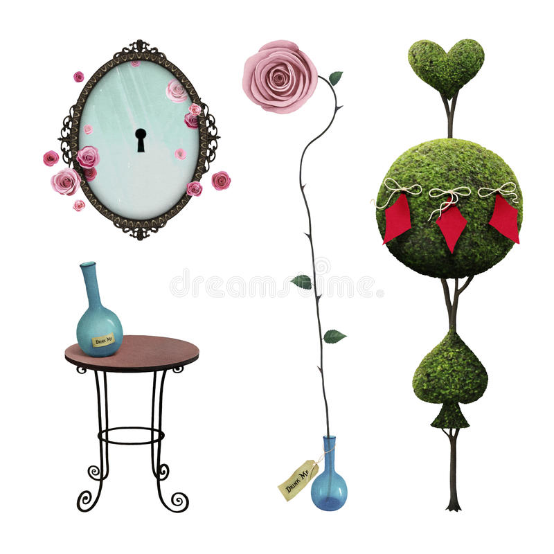 Download Set Wonderland stock illustration. Illustration of object - 87975505