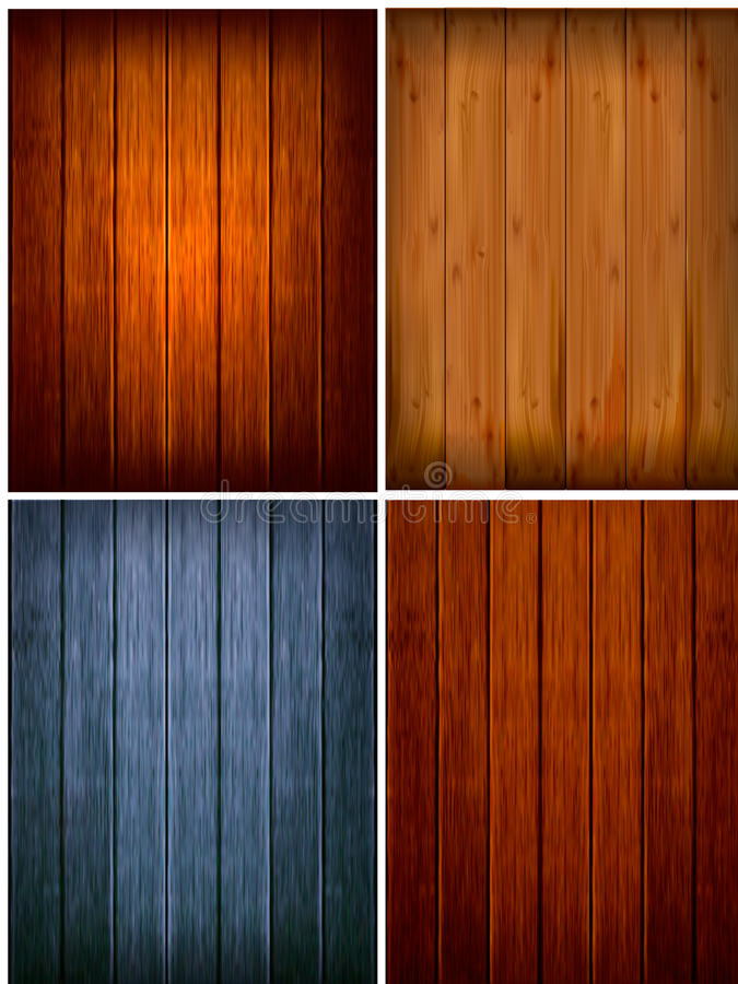 Set of wood backgrounds. Vector vector illustration