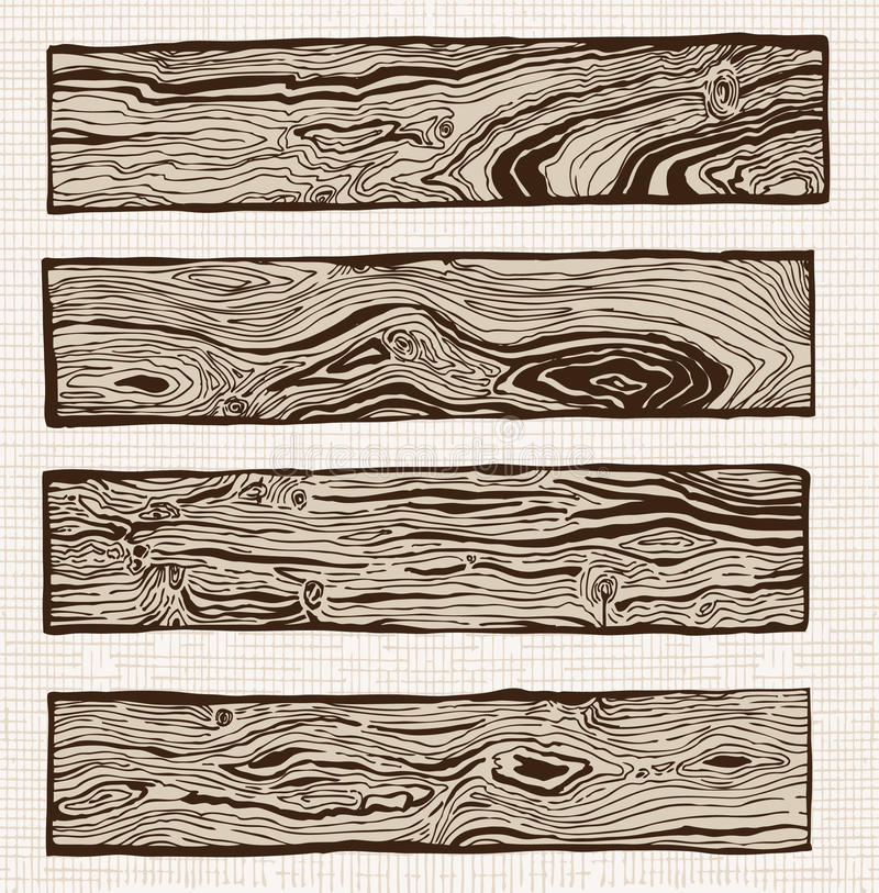 Download Set of wood plank stock vector. Image of lumber, isolated - 15784548