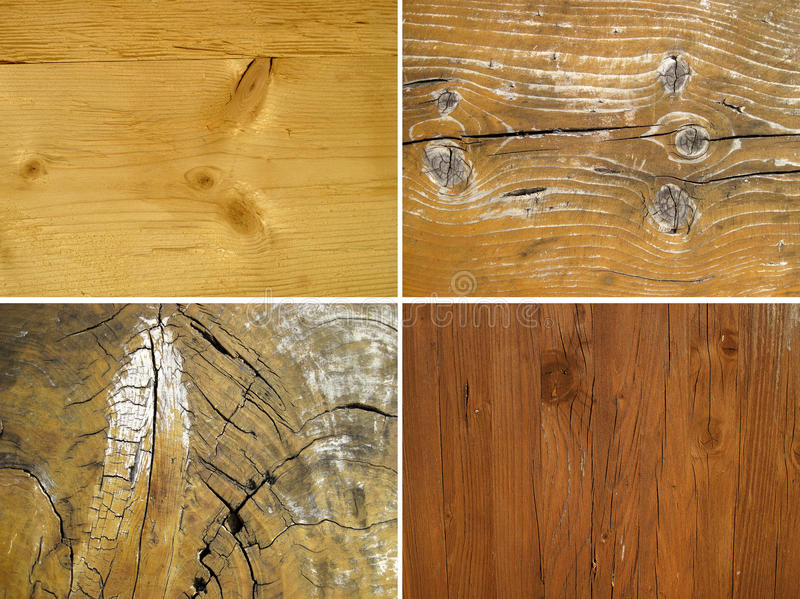 Set of wood textures. Four backgrounds royalty free stock photography