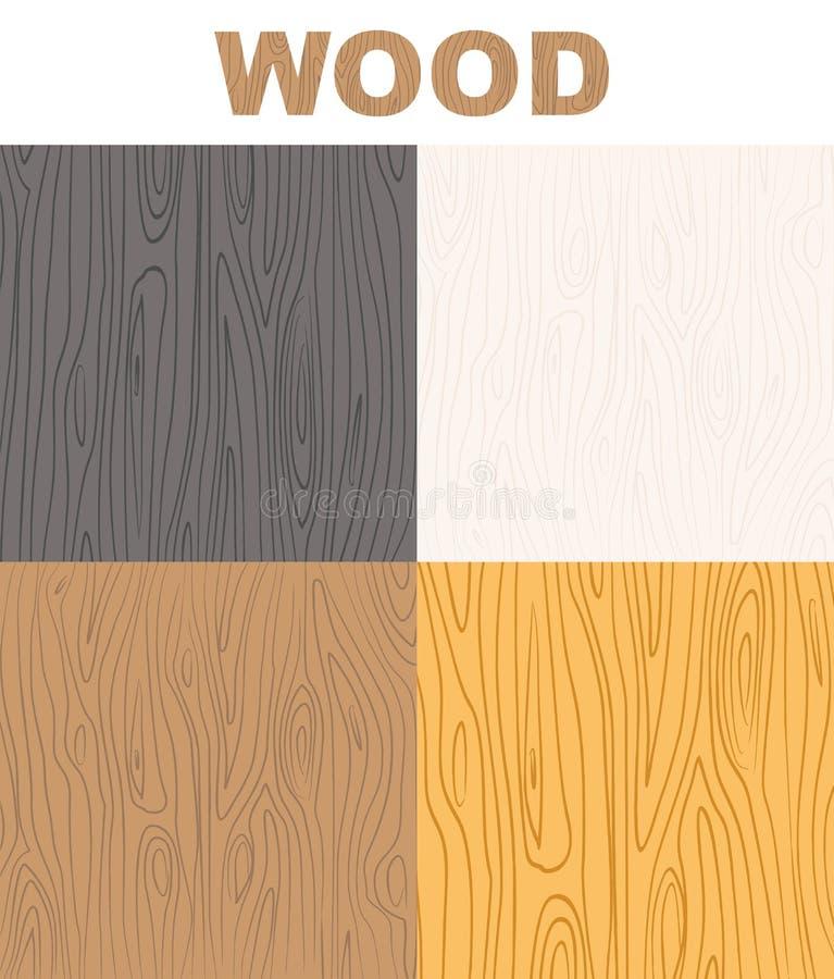 Set wood textures pattern. Vector wooden background. vector illustration