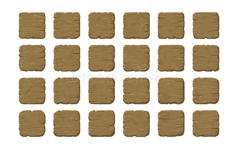 Set of wooden panels stock photography